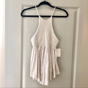 Free People Road Trip Tank in Taupe